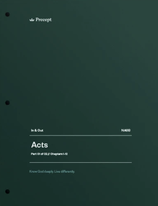 Acts Part 1 (Chapters 1-12)