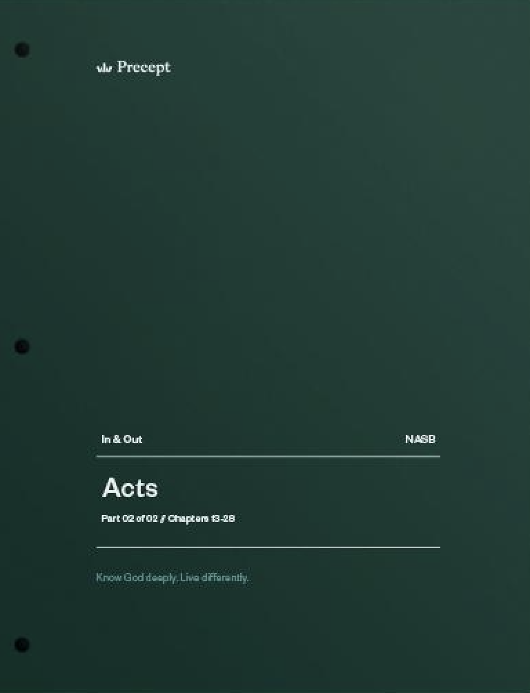 Acts Part 2 (Chapters 13-28)