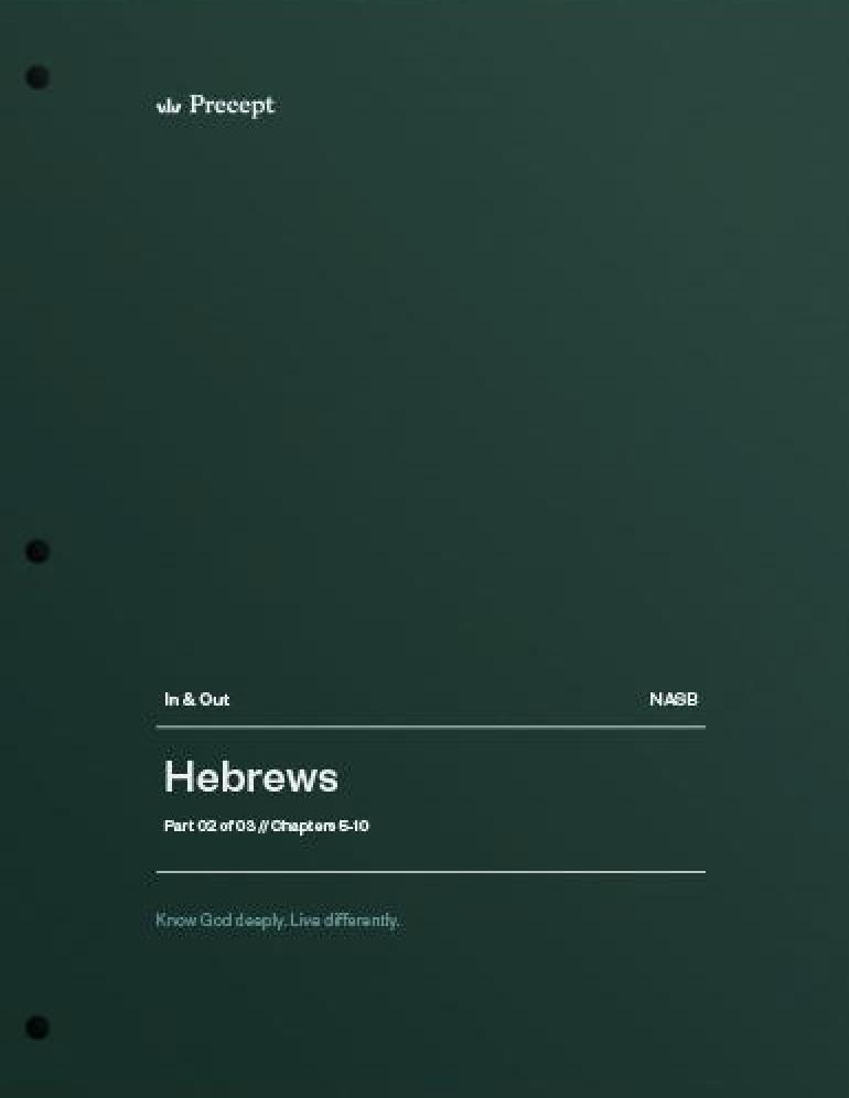 Hebrews Part 2 (Chapters 5-10)