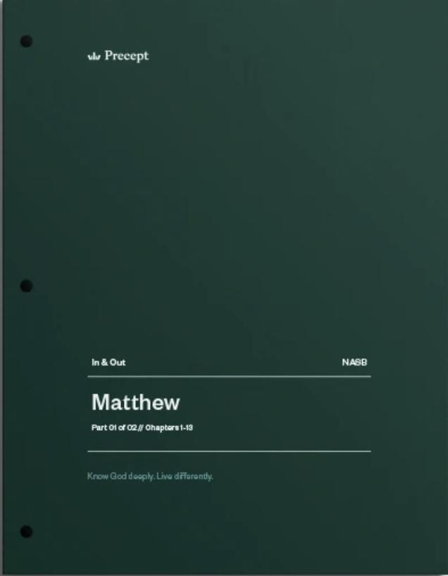 Matthew Part 1 (Chapters 1-13)