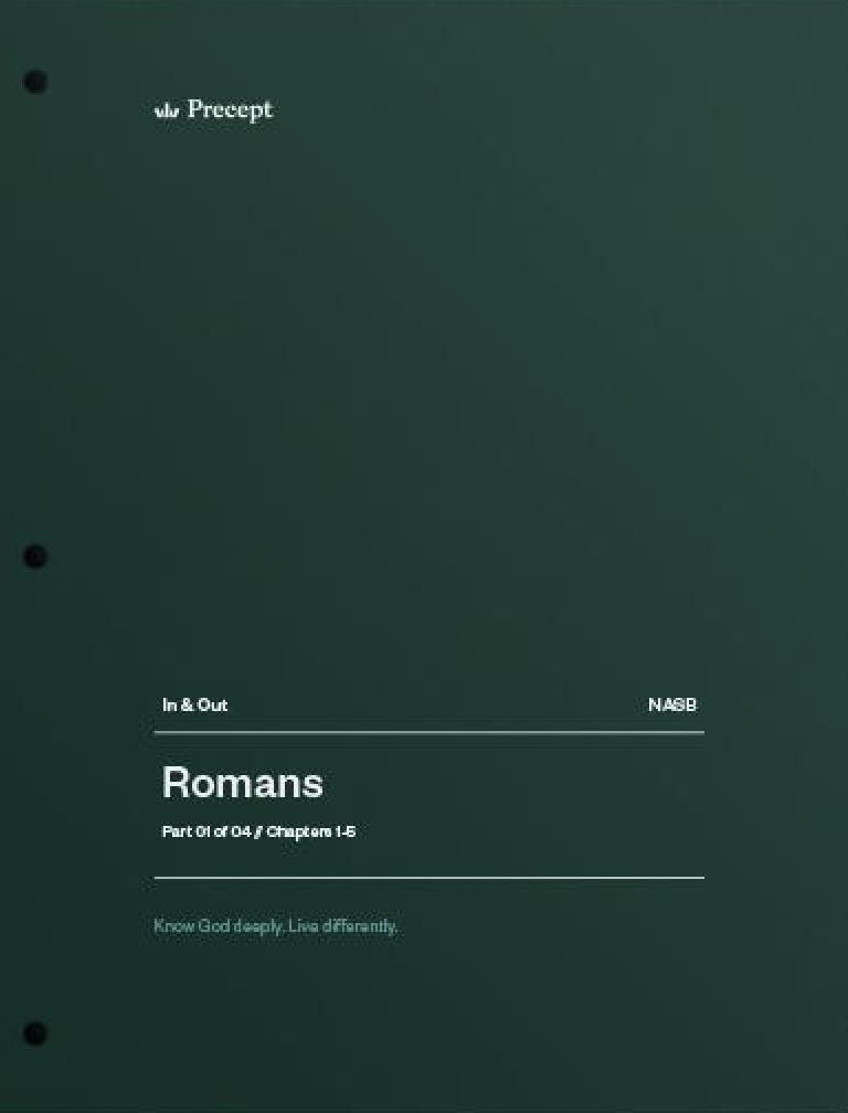 Romans Part 1 (Chapters 1-5)