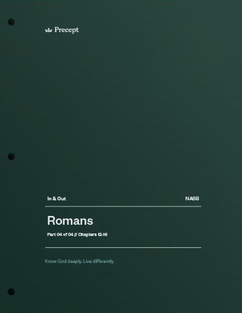 Romans Part 4 (Chapters 12-16)